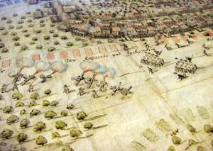 Ausschnitt aus der Schlachtdarstellung von Conrad Maesberg (Foto: BLDAM)