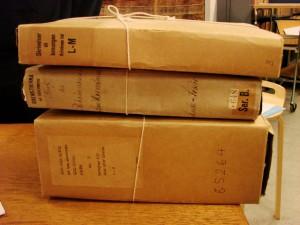 Archivalien zur Schlacht von Wittstock im Reichsarchiv Stockholm (Foto: BLDAM)